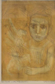 Child with Flowers by Irving Amen