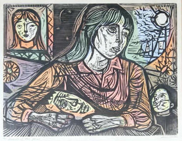 Dreaming of the Young by Irving Amen circa 1970 Edition of 75  16 x 21 inches [40.64 x 53.34 cm] RO Gallery 7/06
