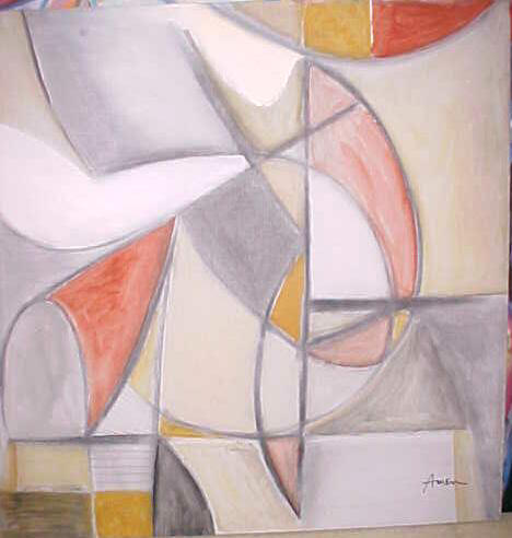 Dance and Abstract oil by Irving Amen